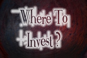 Where To Invest Concept text on background